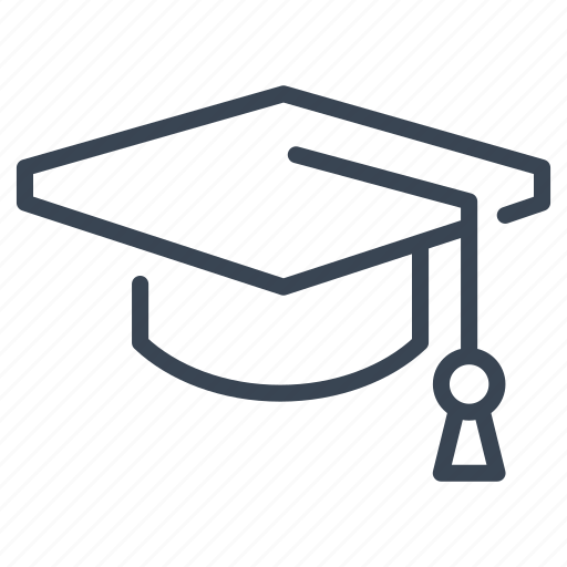 cap, graduate, graduation, hat, university icon