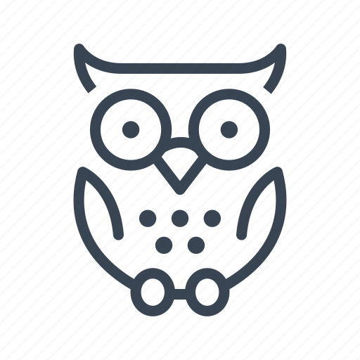 education, knowledge, learning, owl, school, study icon
