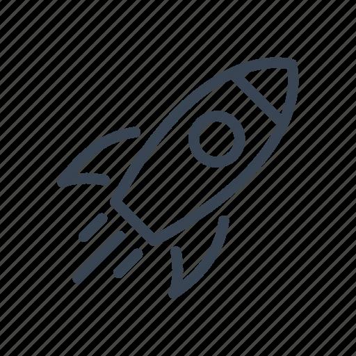 education, rocket, school, science icon