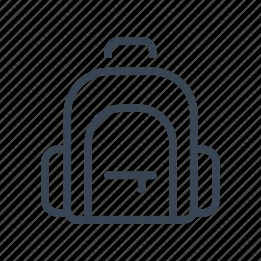 backpack, bag, school, schoolbag icon