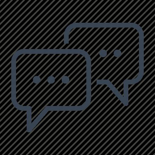 bubbles, chat, conversation, discussion, talk icon