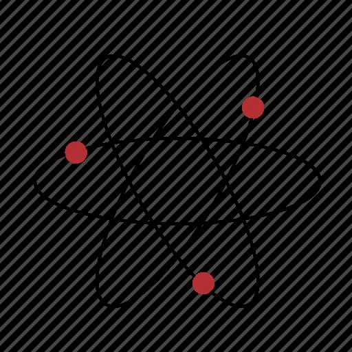 atom, school, science, technology icon