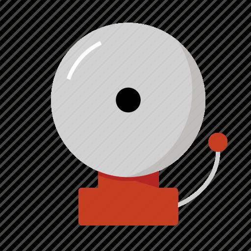 alarm, bell, ring, school icon