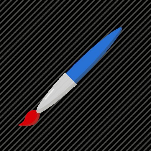 brush, drawing, paint, school icon