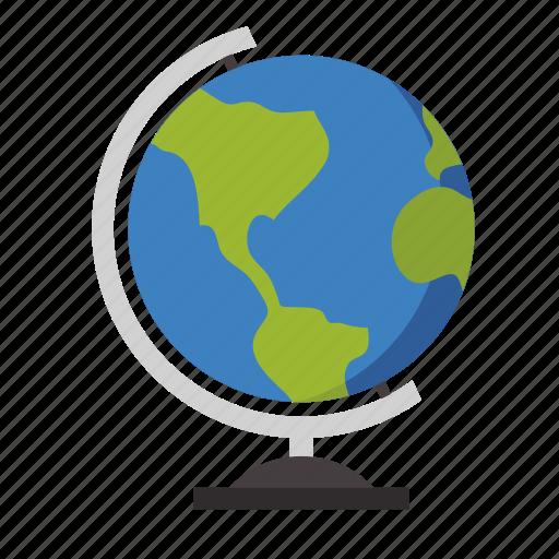 geography, globel, knowledge, school, trave, world icon