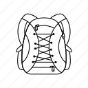 backpack, bag, line, school, sport, travel, vacation icon