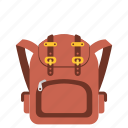 backpack, bag, school, sport, transportation, travel, vacation icon