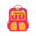 backpack, bag, education, school, sport, study, travel icon