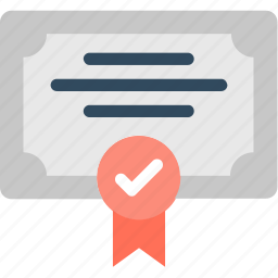 certificate, deed, degree, diploma, success icon