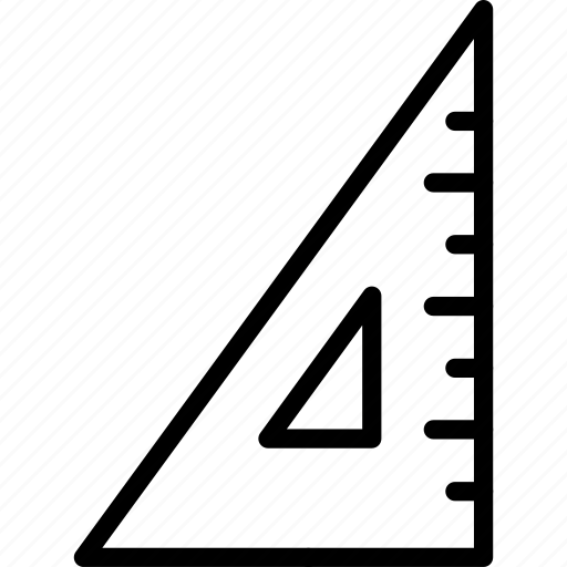 school, set, set square, square, tool icon