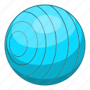 ball, beach, blue, cartoon, play, summer, toy icon