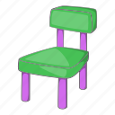 cartoon, chair, design, furniture, home, kid, pink icon