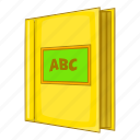 abc, book, cartoon, cover, education, open, read icon