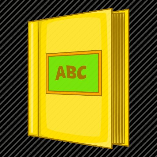 abc, book, cartoon, cover, education, open, read icon