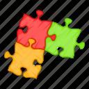 business, cartoon, concept, idea, jigsaw, piece, puzzle