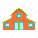 building, cartoon, door, home, house, toy, window icon