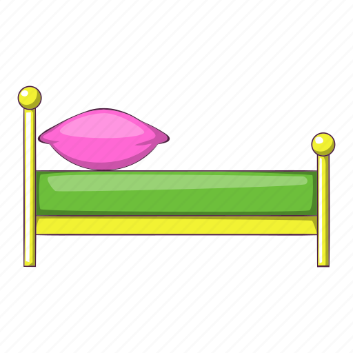 Bed, bedroom, cartoon, furniture, kid, night, pillow icon - Download on Iconfinder