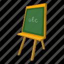 abc, blackboard, board, cartoon, chalk, chalkboard, school icon