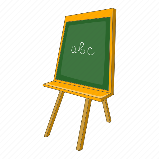 abc, blackboard, board, cartoon, chalk, chalkboard, school icon