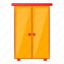 cartoon, cupboard, design, furniture, interior, wardrobe icon