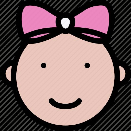 baby, child, childhood, girl, learning, school, university icon