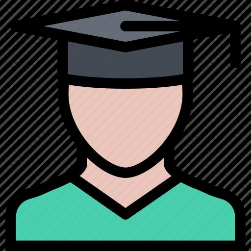 child, childhood, graduate, learning, school, university icon