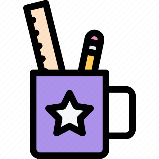 child, childhood, learning, school, stationery, university icon