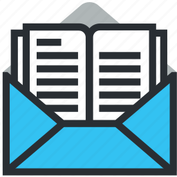 envelope, enveloppe, letter, message, post icon, report icon