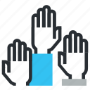 first, hands, level, rank, status icon