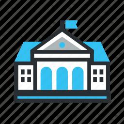 building, chemistry, education, school icon