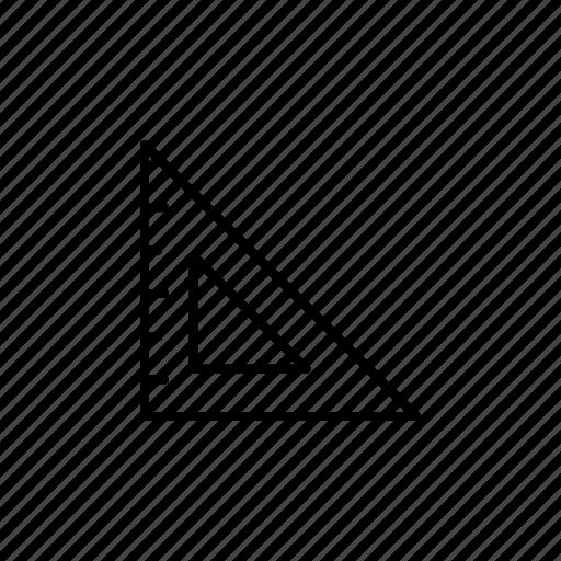 drawing, equipment, geometric, ruler, tool, tools, triangle icon