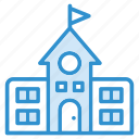 building, education, school icon icon