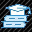 book, cap, diploma, graduate, hat icon icon