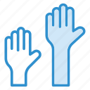 class, group class, hands, hands up, learning, questions, school icon icon