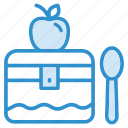 box, food, lunch, meal, package, school icon icon