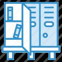 books, bookshelf, furniture, interior, shelf icon icon