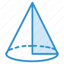 cone, figure, geometry, triangle icon icon