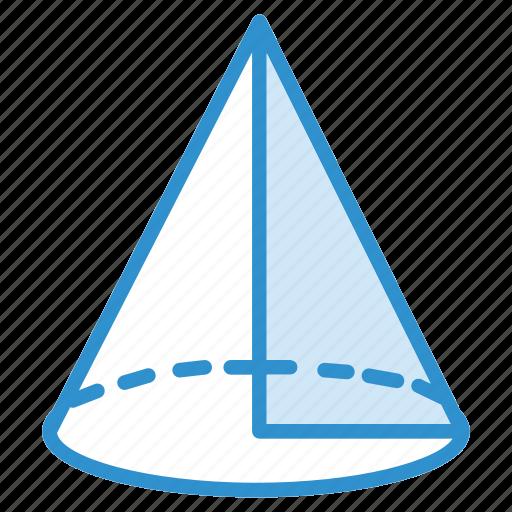 cone, figure, geometry, triangle icon icon