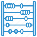abacus, beads frame, calculating machine, counting abacus, counting frame icon icon