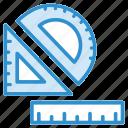 measure, office, ruler, scale, school icon icon