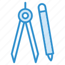 geometry, protractor, ruler, tools icon icon