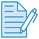 document, file, pencil, text, writing icon icon