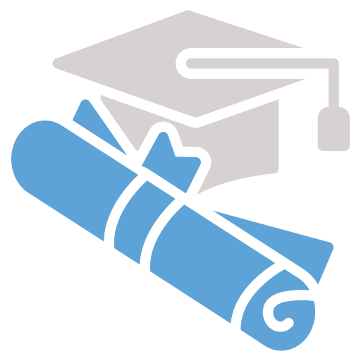 degree, diploma, graduate, graduation cap, hat icon icon