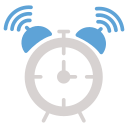 alarm, alarm clock, clock, morning, office, time icon icon