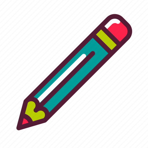 education, pencil, plasticons icon