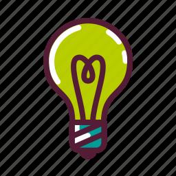 bulb, education, idea, lamp, pight, plasticons icon