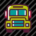 bus, education, plasticons, school, transportation