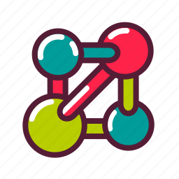 atom, biology, chemistry, education, model, molecule, plasticons icon