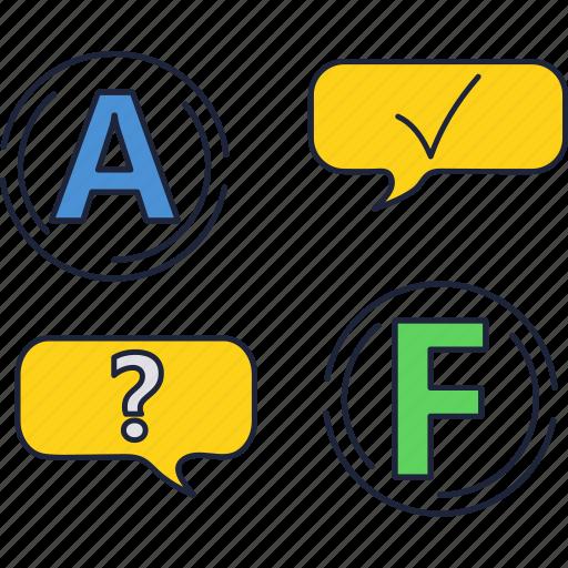 education, grade, school, score, test, university icon