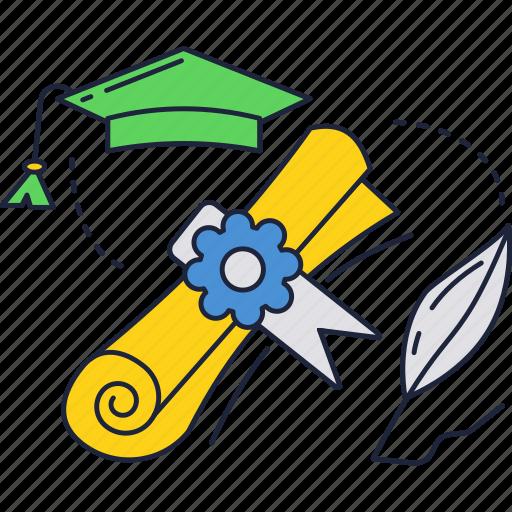 diploma, education, graduation, school, university icon